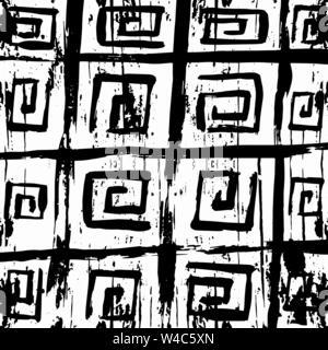 Graffiti monochrome abstract pattern on a white background - Stock Photo
