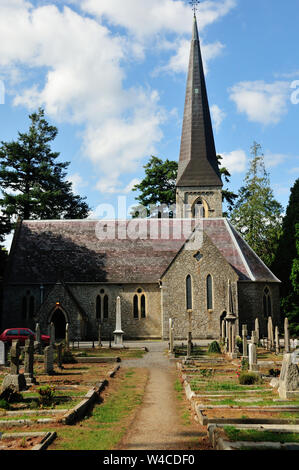 Ennyskerry church and cemetery - Stock Photo