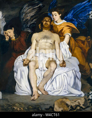 Edouard Manet, The Dead Christ with Angels, painting, 1864 - Stock Photo