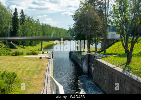 Lappeenranta, Finland - June 20, 2019: The Saimaa Canal at summer. - Stock Photo