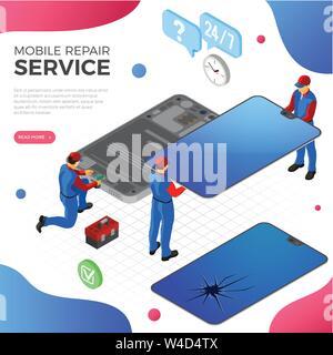 Smartphone Repair Service - Stock Photo