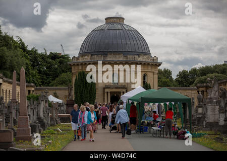 Brompton Cemetery Open Day. One of the 'Magnificent Seven' cemeteries in London, England, UK - Stock Photo