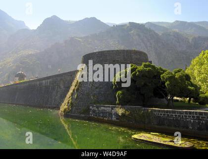Ancient Kampana tower in Kotor, Montenegro - Stock Photo