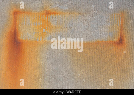concrete slab with traces of rust - Stock Photo