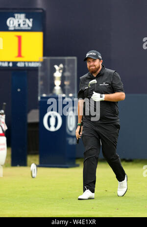 21st July, Portrush, Country Antrim, Northern Ireland; The 148th Open Golf Championship, Royal Portrush, final round; Shane Lowry (IRE) walks from the first tee - Stock Photo