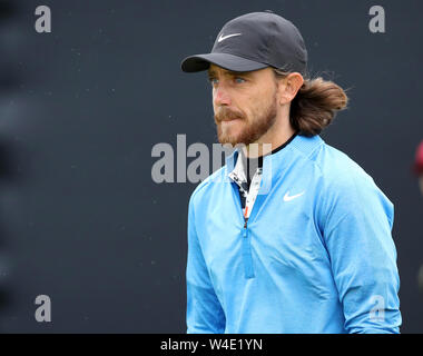 21st July, Portrush, Country Antrim, Northern Ireland; The 148th Open Golf Championship, Royal Portrush, final round; Tommy Fleetwood (ENG) walks from the first tee - Stock Photo