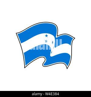 The national flag of Honduras. Vector illustration. Tegucigalpa - Stock Photo
