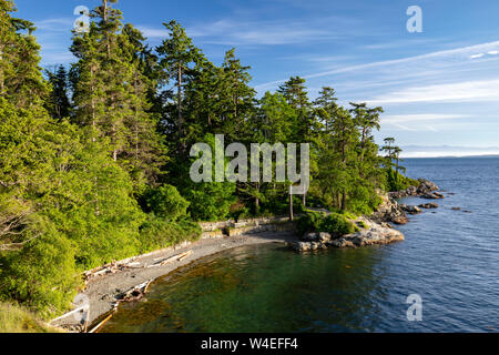 Views from Saxe Point Park in Esquimalt - Victoria, Vancouver Island, British Columbia, Canada - Stock Photo