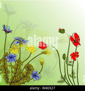Bouquet spring flowers vector illustration eps 10. - Stock Photo