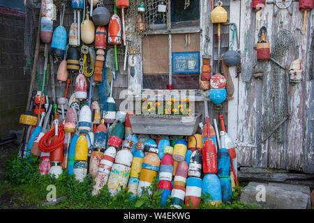 Buoy design  in Rockport Massachusetts USA - Stock Photo