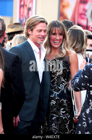Hollywood, California, USA 22nd July 2019 Actor Brad Pitt attends Sony Pictures Presents the World Premiere of 'Once Upon A Time...In Hollywood' on July 22, 2019 at TCL Chinese Theatre in Hollywood, California, USA. Photo by Barry King/Alamy Live News - Stock Photo