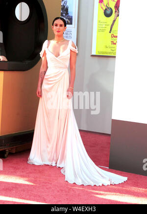 Hollywood, California, USA 22nd July 2019 Actress Rumor Willis attends Sony Pictures Presents the World Premiere of 'Once Upon A Time...In Hollywood' on July 22, 2019 at TCL Chinese Theatre in Hollywood, California, USA. Photo by Barry King/Alamy Live News - Stock Photo
