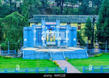 Cathedral Catholic Church, Shillong India 25 December 2018 - Cathedral of Mary Help of Christians, named after mother Mary of Jesus Christ, first chur - Stock Photo
