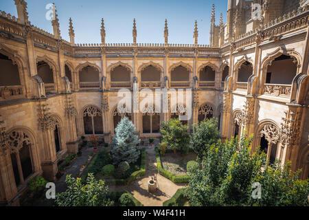 Courtyard of San Juan de los Reyes Monastery - Toledo, Castila La Macha, Spain - Stock Photo