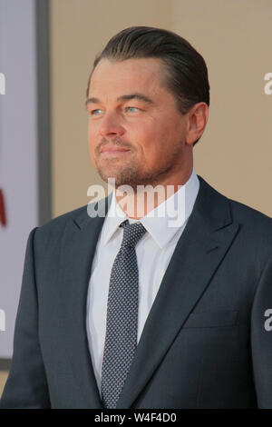 Los Angeles, USA. 22nd July, 2019. Leonardo DiCaprio at Sony Pictures' 'Once Upon a Time.in Hollywood' World Premiere held at the TCL Chinese Theatre, Los Angeles, USA, July 22, 2019. Photo Credit: Joseph Martinez/PictureLux All Rights Reserved Credit: PictureLux/The Hollywood Archive/Alamy Live News - Stock Photo