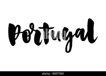 Happy holidays in portugues. Boas Festas. Lettering. Hand drawn vector illustration. Modern calligraphy. - Stock Photo