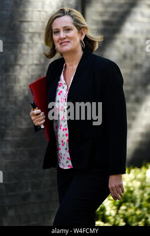 Downing Street, London, UK. 23rd July 2019. Amber Rudd. Ministers arrive for the Cabinet meeting. - Stock Photo