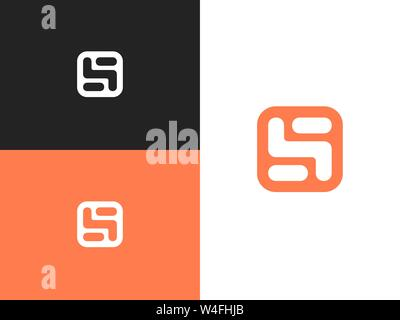 Stylized number three logo, vector sign number 5 - Stock Photo