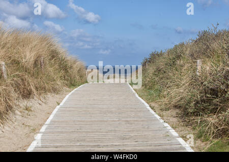 Europe Germany East Frisia North Sea Langeoog - A silent Moment at the beach from Langeoog - Stock Photo
