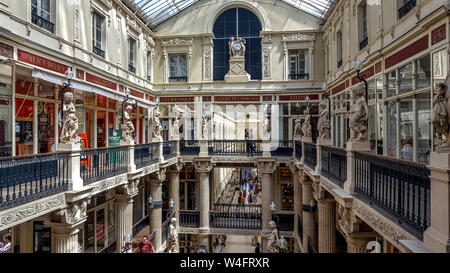The Passage Pommeray shopping area in the city of Nantes, Loire Atlantique, Pays de la Loire, France - Stock Photo