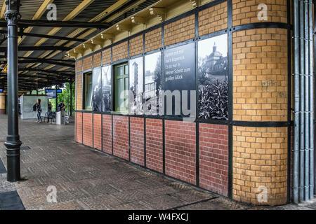 S Berlin-Köpenick, S-bahn Railway station with covered platform - Stock Photo