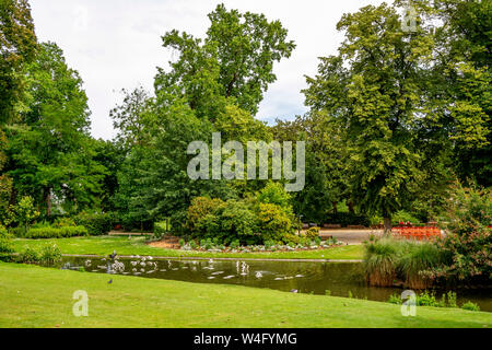 Botanic garden of Nantes. Loire-Atlantique. Pays  de la Loire. France - Stock Photo