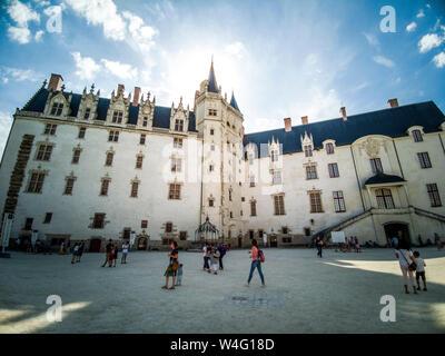 Nantes. Chateau des Ducs de Bretagne, Castle of the Dukes of Brittany, Loire Atlantique. Pays de la Loire. France - Stock Photo