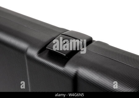 black plastic case for gun isolated on white background - Stock Photo