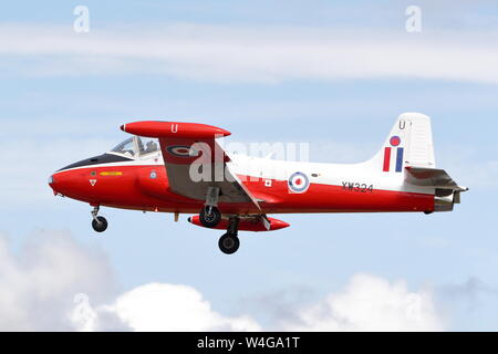 BAC Jet Provost arriving at the Royal International Air Tattoo RIAT 2019 at RAF Fairford, Gloucestershire, UK - Stock Photo