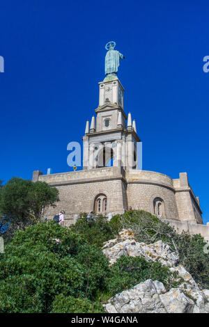 Majorca, Christkönigmonument,  Puig de Sant Salvador, Baleraren, Mallorca - Stock Photo