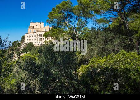 Majorca, Kloster Santuari de Sant Salvador, Mallorca, Spanien - Stock Photo