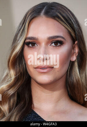 Hollywood, United States. 22nd July, 2019. HOLLYWOOD, LOS ANGELES, CALIFORNIA, USA - JULY 22: April Love Geary arrives at the World Premiere Of Sony Pictures' 'Once Upon a Time In Hollywood' held at the TCL Chinese Theatre IMAX on July 22, 2019 in Hollywood, Los Angeles, California, United States. (Photo by Xavier Collin/Image Press Agency) Credit: Image Press Agency/Alamy Live News - Stock Photo