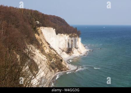 Chalk cliff, Jasmund National Park, Ruegen, Germany - Stock Photo