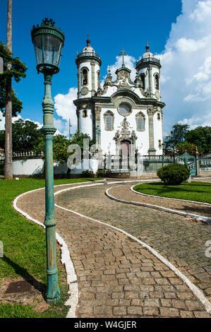 Church Sao Francisco de Assis in Sao Joao del Rei, Minas Gerais, Brazil Stock Photo