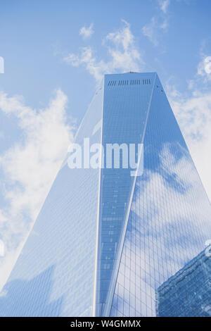 One World Trade Center, Ground Zero, Manhattan, New York City, USA - Stock Photo