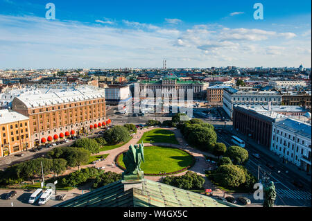 View from the Saint Isaac's Cathedral, St. Petersburg, Russia - Stock Photo