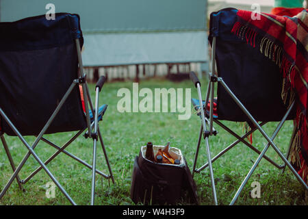 Astounding Open Air Cinema Concept Folding Chairs In Front Of Big White Ncnpc Chair Design For Home Ncnpcorg