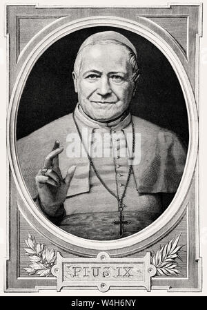 Pope Pius IX, 13 May 1792 – 7 February 1878, Pope from 16 June 1846 to his death - Stock Photo