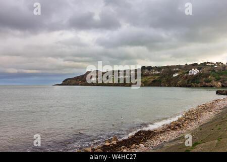 Howth Head is near Dublin, Ireland and overlooks the harbor - Stock Photo