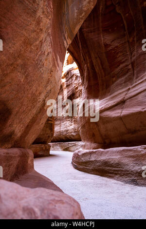 The Main Red Canyon in Petra Archaeological Site - UNESCO Heritage