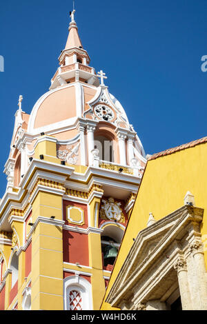 Cartagena Colombia Old Walled City Center centre Catedral de Santa Catalina de Alejandria Cathedral Basilica of Saint Catherine of Alexandria historic - Stock Photo