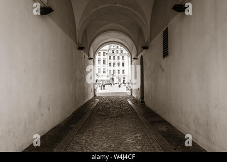 WROCLAW, POLAND - July 17, 2019: Architecture of Old Town in Wroclaw - Stock Photo
