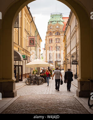 WROCLAW, POLAND - July 17, 2019: Architecture of Old Town in Wroclaw on summer day. - Stock Photo