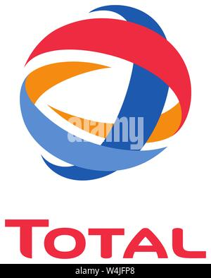 Logo, Total, mineral oil company, Germany