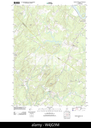 Maine USGS Historical Map North Pownal 20110825 TM Restoration - Stock Photo