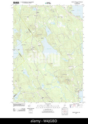 Maine USGS Historical Map North Sebago 20110830 TM Restoration - Stock Photo