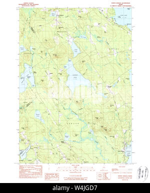 Maine USGS Historical Map North Sebago 460682 1983 24000 Restoration - Stock Photo