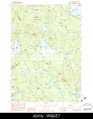 Maine USGS Historical Map North Sebago 461061 1983 24000 Restoration - Stock Photo
