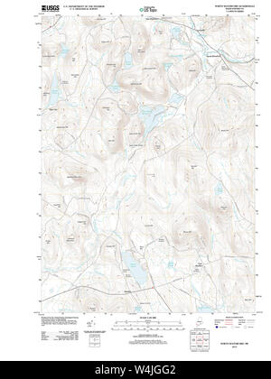 Maine USGS Historical Map North Waterford 20120118 TM Restoration - Stock Photo