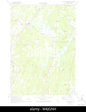 Maine USGS Historical Map North Whitefied 460684 1970 24000 Restoration - Stock Photo